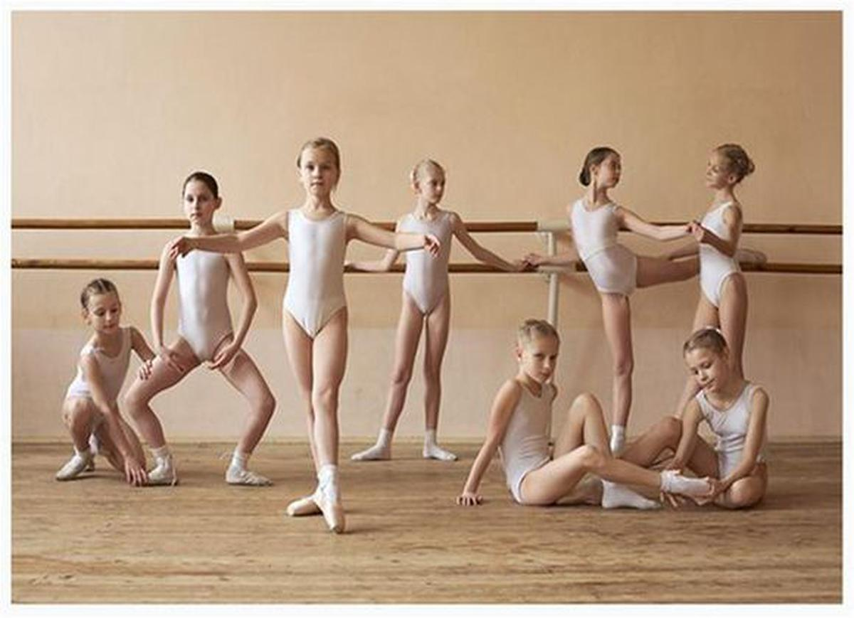 Фото в раздевалке у балерин 123